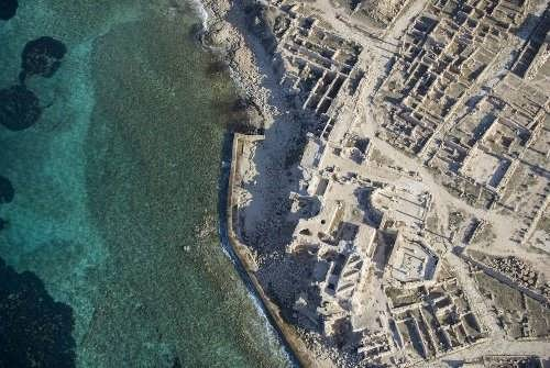 Ruins of Sabratha. Port was founded around 500 BC