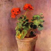 The Pot of Geraniums. Odilon Redon