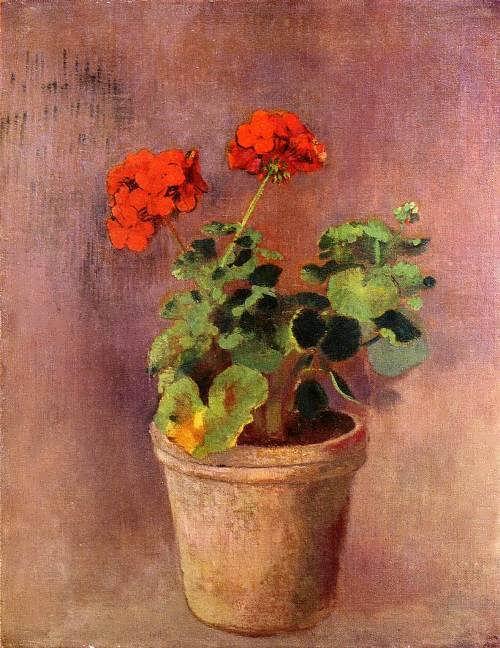 The Pot of Geraniums. Odilon Redon