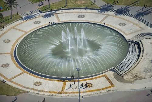The fountain on the main square of the Martyrs in the Libyan city of Tripoli
