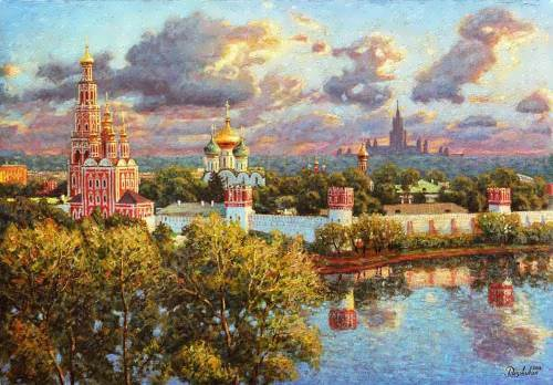 The last rays of the sunset. (Novodevichy Convent), I. Razzhivin