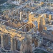The ruins of the city of Leptis Magna