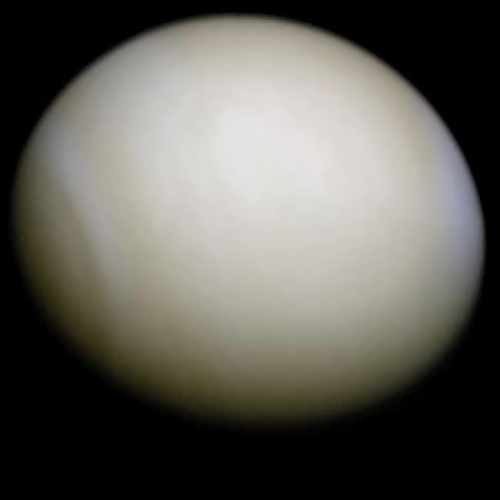 Venus wrapped up with clouds
