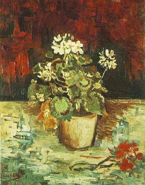 Vincent van Gogh. Geranium in a Flowerpot