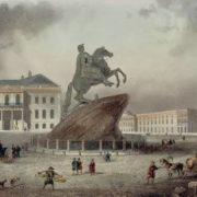 Horseman over the city