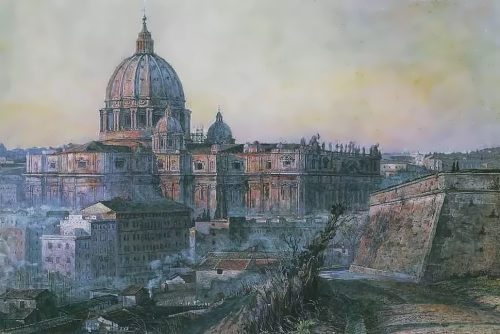 Korin Pavel. St. Peter's Cathedral in Rome. 1932