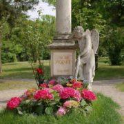Mozart's grave in St. Mark's Cemetery