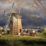 Old Hook Mill, Easthampton, Edward Lamson Henry.