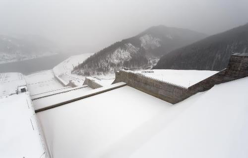 Sayano-Shushenskaya HPP in winter