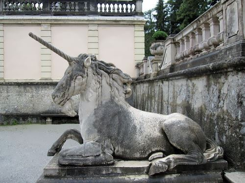 Sculpture of unicorn