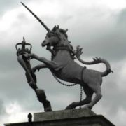Sculpture of unicorn