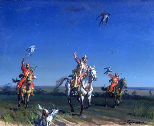 Sergei Kirillov. Tsar Alexei Mikhailovich is hunting. 1997