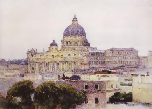 St. Peter's Cathedral in Rome. 1884