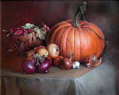 Stanislav Plonish. Still Life with a Pumpkin