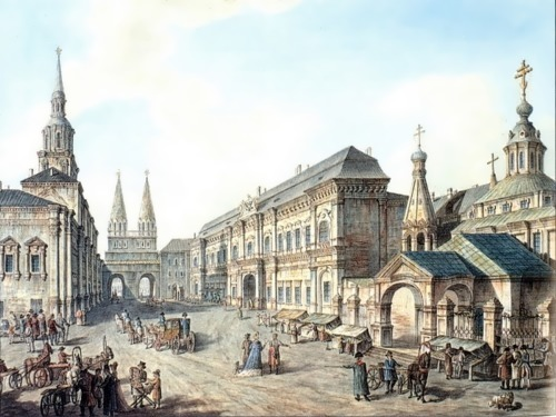 Alekseev Fedor. The northern side of the Red Square. 1802