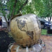 Apple Globe in Novosibirsk