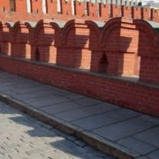 Battlements on Kremlin walls