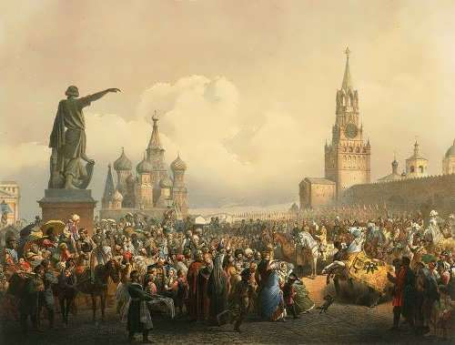 Coronation celebrations on Red Square. 1856. V.F. Timm