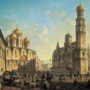 F. Alekseev. Cathedral Square in the Moscow Kremlin
