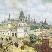 Kremlin at the end of the 17th century. Apollinariy Mihaylovich Vasnetsov