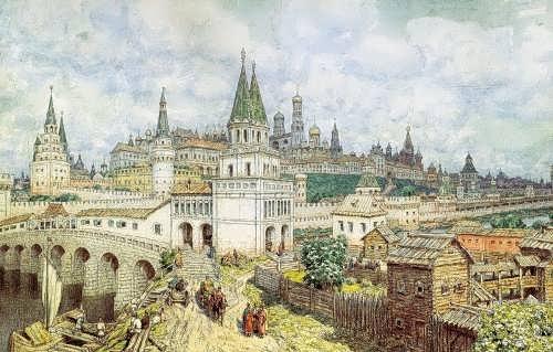 Kremlin at the end of the 17th century. Apollinariy Mihaylovich Vasnetsov