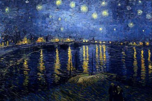 Starry Night Over the Rhone. Vincent van Gogh