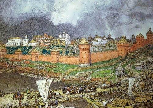The Moscow Kremlin under Ivan III. Apollinariy Mihaylovich Vasnetsov