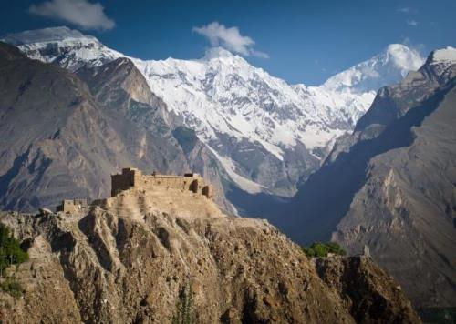 Ancient fort in the Hunza valley in Gilgit-Baltistan