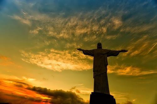 Attractive Christ the Redeemer in Brazil