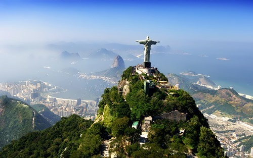 Charming Christ the Redeemer in Brazil