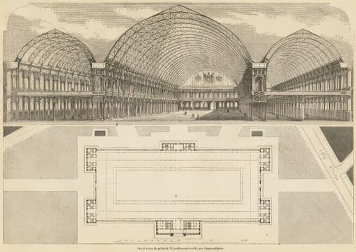 Hall for the 1855 exhibition in Paris