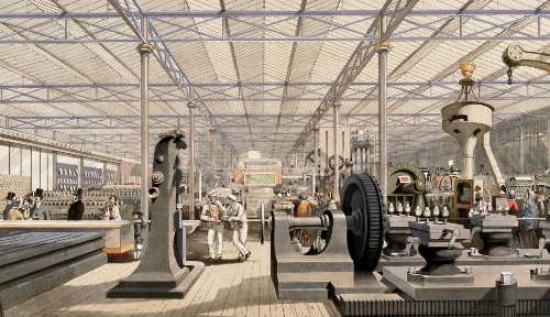Hall of industrial equipment