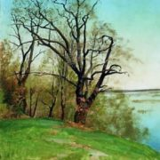I. Levitan. Oak on the bank of the river, 1887
