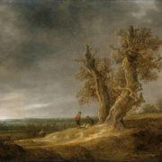 Jan van Goyen. Landscape with two oaks
