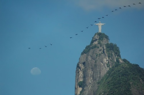 Magnificent Christ the Redeemer in Brazil