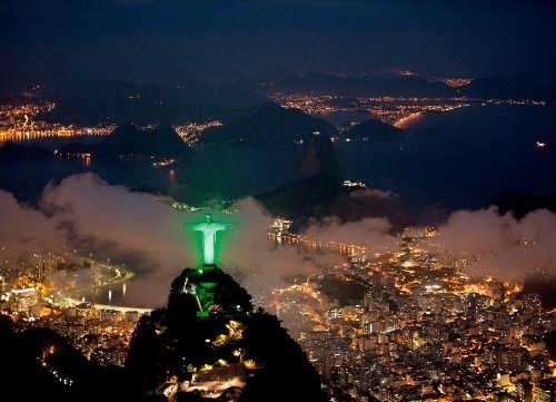 Majestic Christ the Redeemer in Brazil