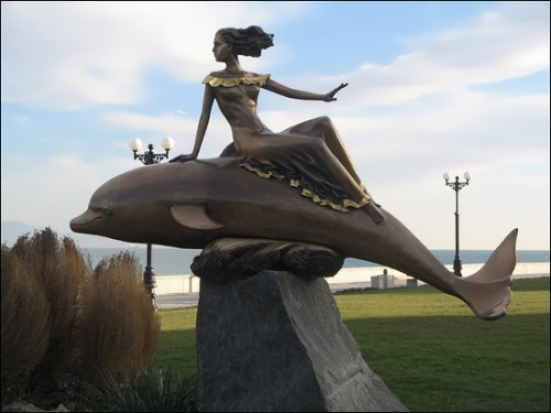 Monument to the dolphin in Anapa, Russia