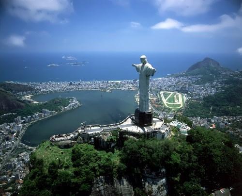Pretty Christ the Redeemer in Brazil