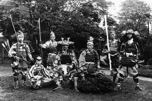 Symbols of Japan's feudal past