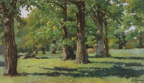 V. Vasnetsov - Oak grove in Abramtsevo, 1883