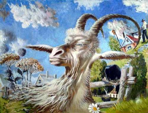 Akimov Vladimir. Dreams of a white goat