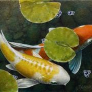 Attractive koi. Artist Terry Gilecki