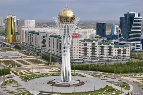 Baiterek monument in Astana, Kazakhstan