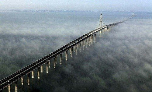 Bridge across Hangzhou Bay - the longest sea bridge in the world