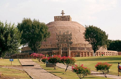 Buddhist stupa in Sanchi
