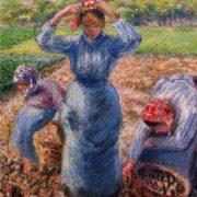Camille Pissarro. Peasants Harvesting Potatoes.