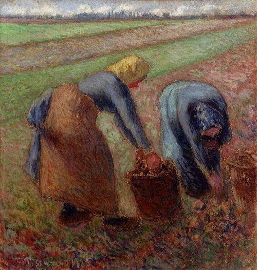 Camille Pissarro. Potato Harvest II.