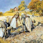 Carl Larsson. Potato Harvest.