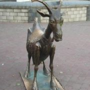 Cheerful goat in Nizhny Novgorod
