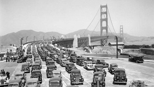 Completed Golden Gate Bridge